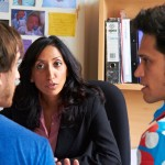 Shazia Mirza telling the boys off