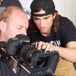 Adam Griffiths pulling focus with Tijmen Veldhuizen